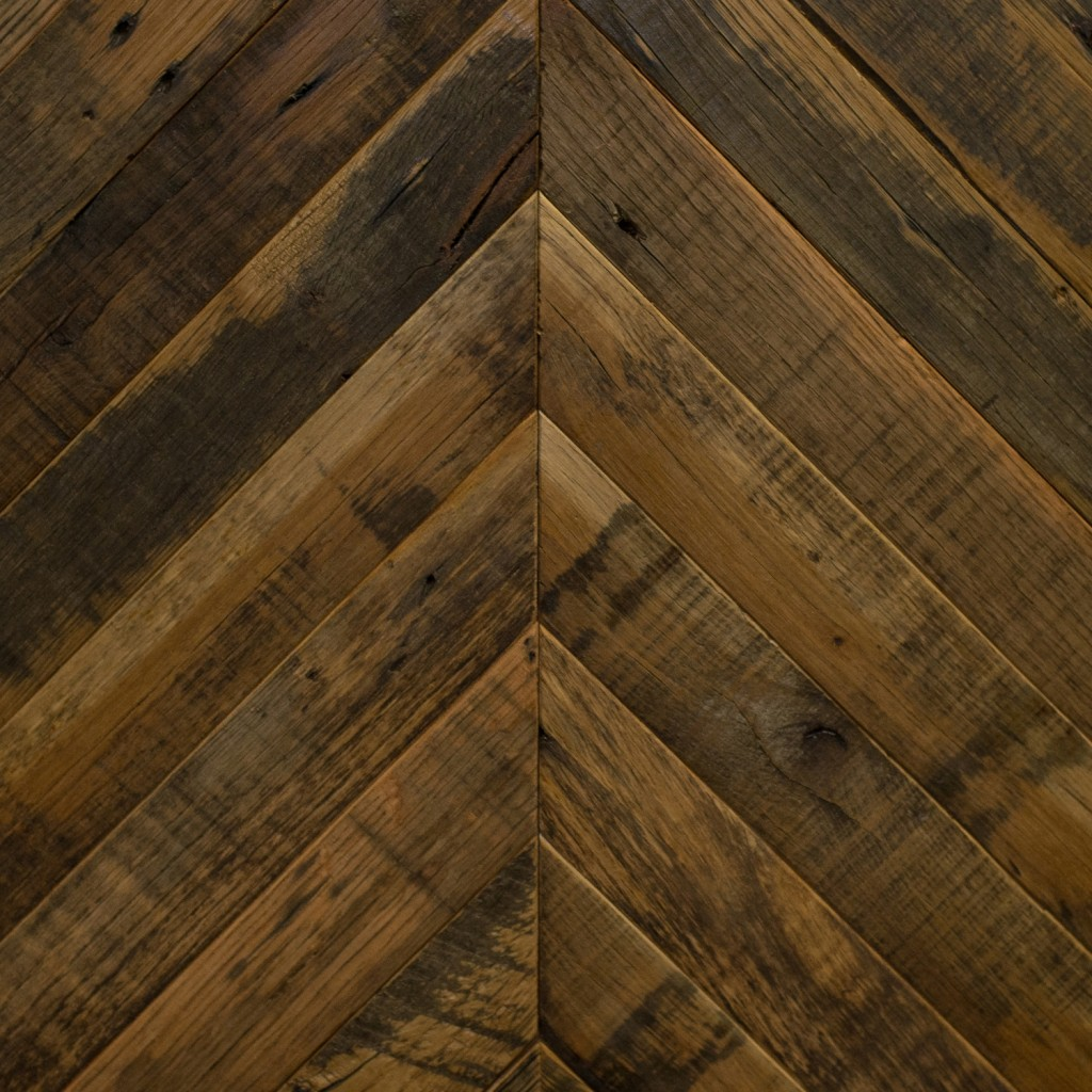 Reclaimed Collection: NATURAL - Chevron design (oak)