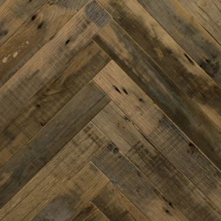 Reclaimed Collection: NATURAL - Herringbone design (oak)